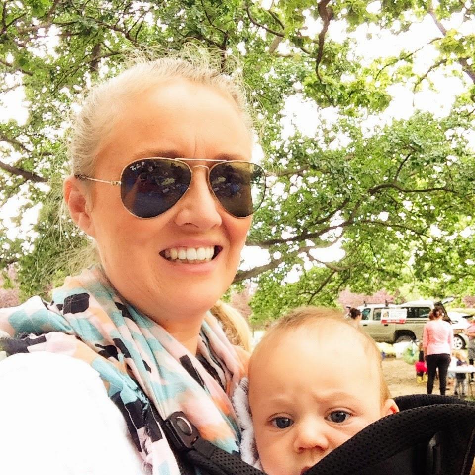 Motherhood: A photo of my babywearing the little dude