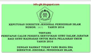 calon peserta plpg tahun 2016 madrasah kemenag dirjen pendis