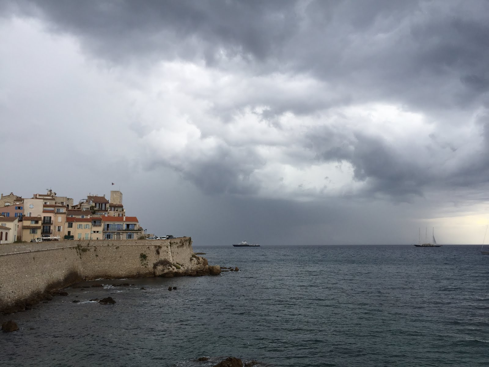 Antibes before a storm