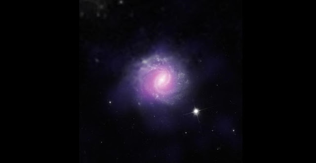 This galaxy, called IC 3639, contains an example of an obscured supermassive black hole. Credit: ESO