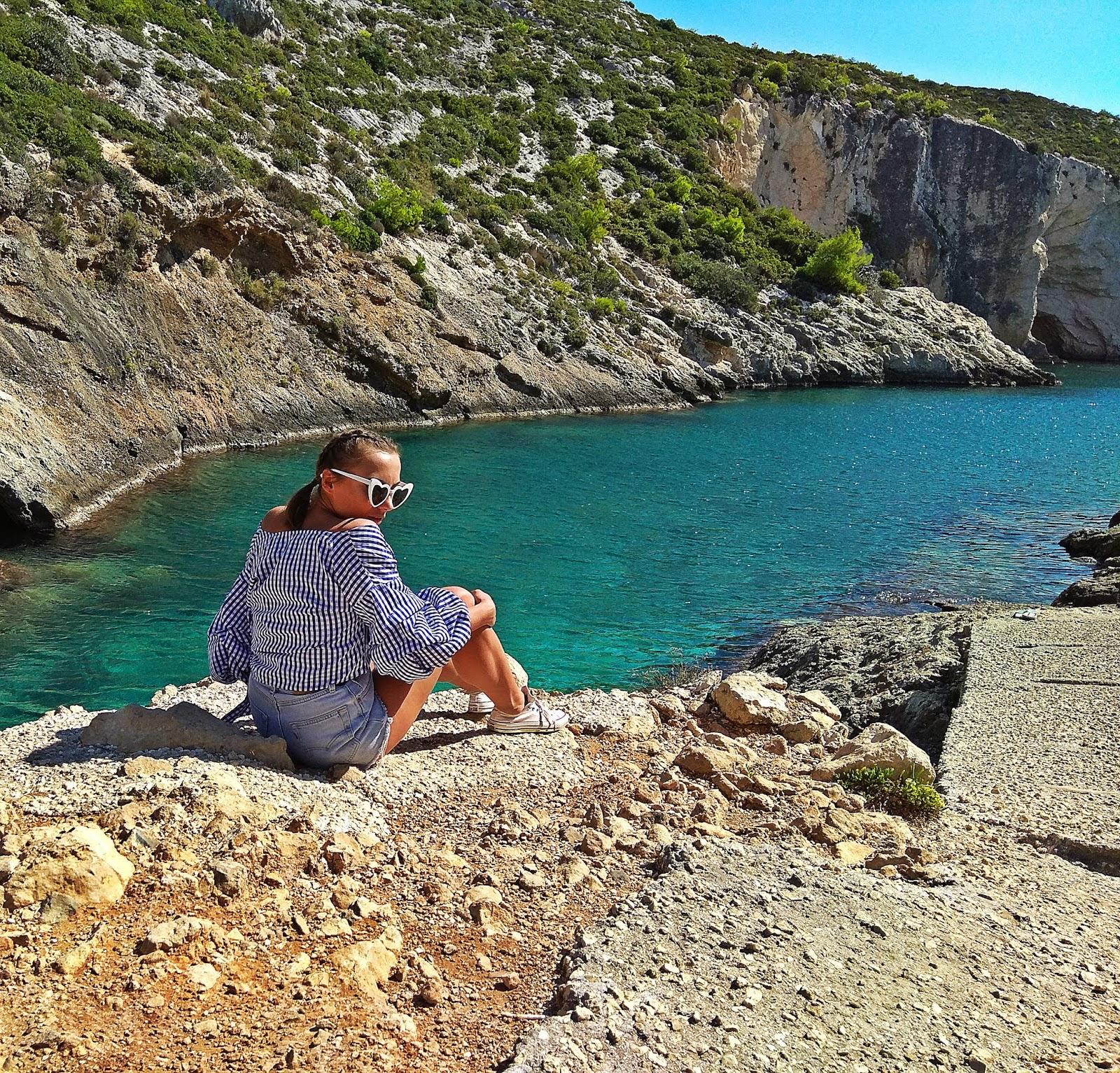 porto limnionas beach zakynthos karyn blog modowy