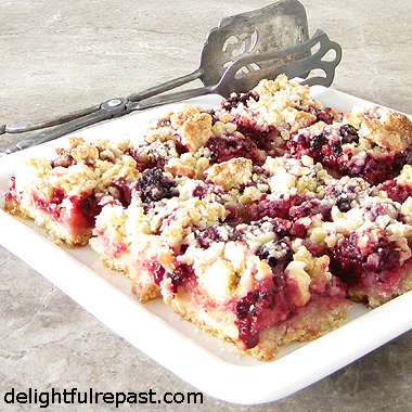 Blackberry Crumble Bars - Like Pie, Only Quicker and Easier / www.delightfulrepast.com