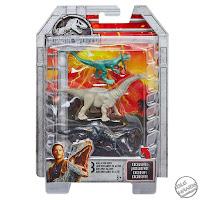 Mattel Jurassic World Toys Apatosaurs, Dilophosaurus, Indoraptor 3 Mini Figure Pack 01