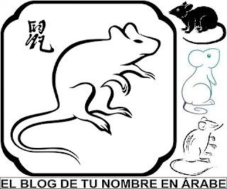 Horoscopo chino rata blanco y negro