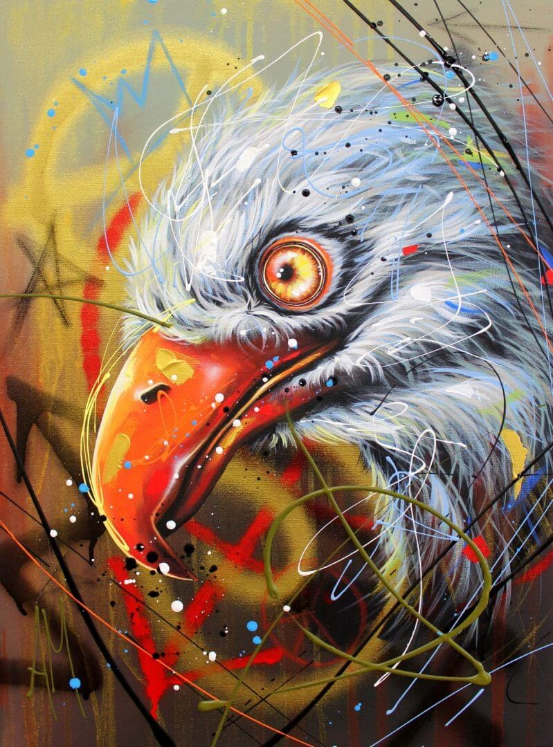 07-The-Eagle-Andrea-Marqui-Bright-Paintings-of-Animal-Portraits-www-designstack-co
