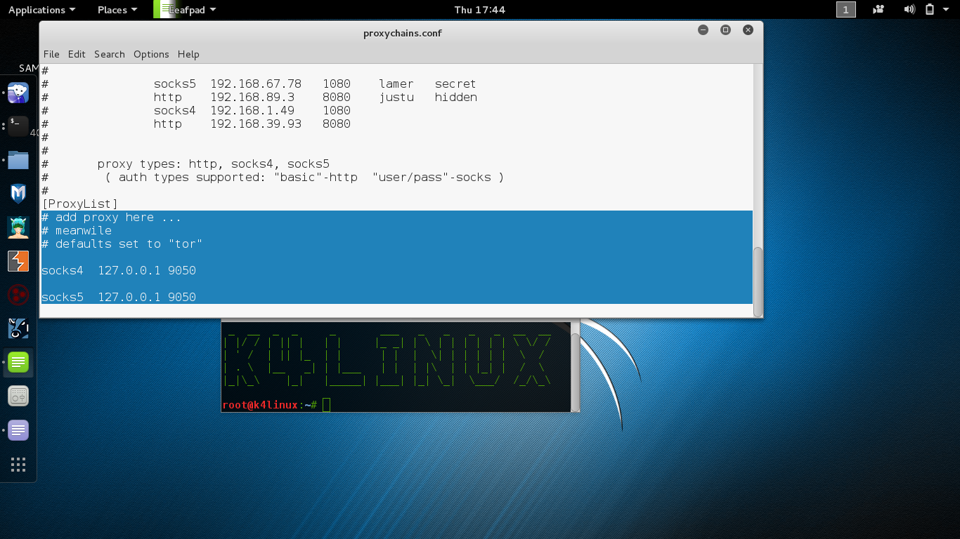 Kali Linux Tutorials - How to install and configure Tor with