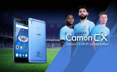 TECNO Camon CX Manchester City Limited Edition