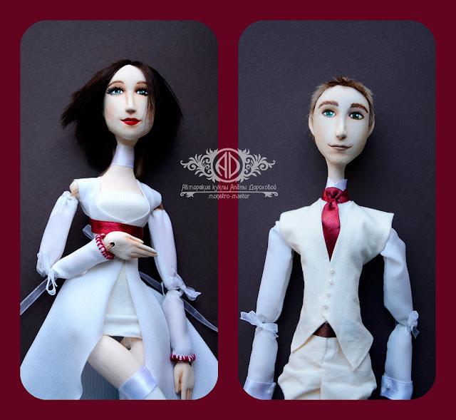 ADdoll_Anna_Max_1. Анна и Макс. Портретные куклы-болтушки.