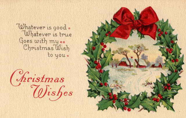 Vintage Christmas Wishes Card Images