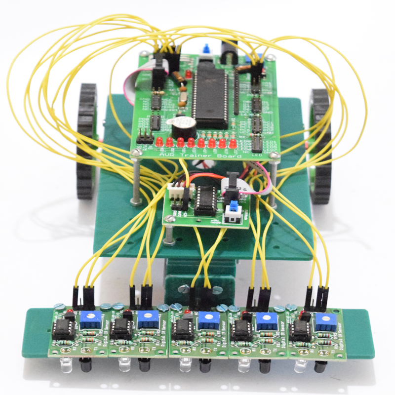 How to make a simple line following robot using Arduino uno