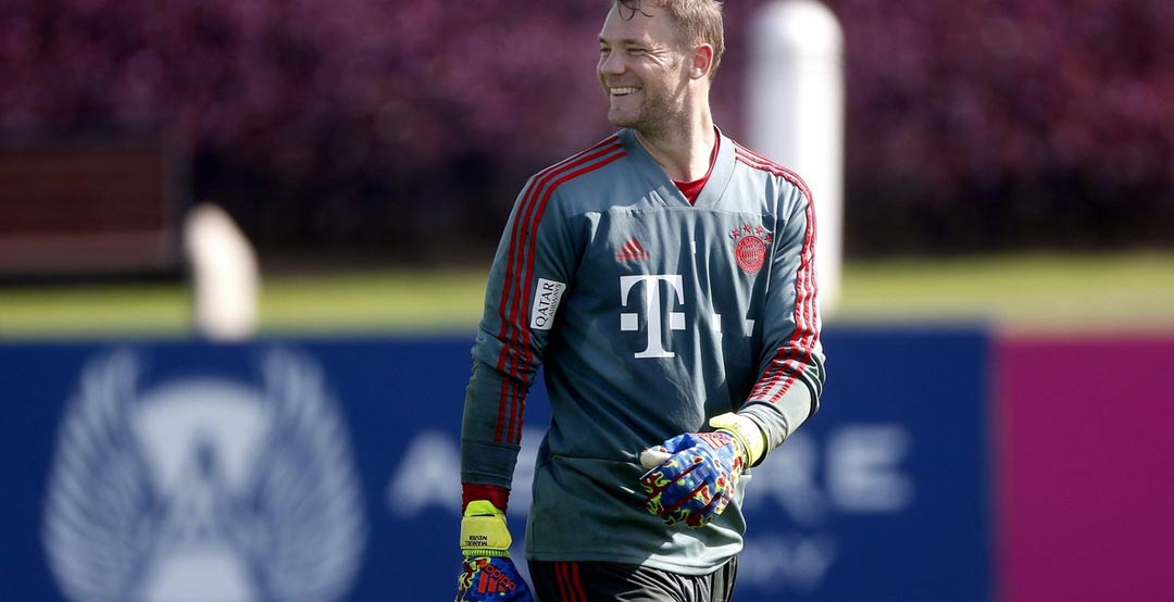 da5c4be6290 Adidas released special signature goalkeeper gloves for FC Bayern Munich  and Germany keeper Manuel Neuer. The Adidas Predator Pro Manuel Neuer 2019  ...
