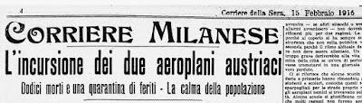 corriere milano bombardamento 1916 tabacchi