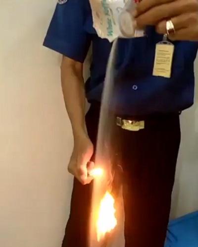kopi luwak terbakar