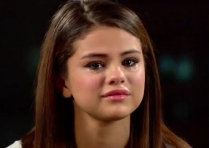 Crying selena gomez