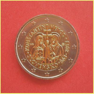 2 Euros Eslovaquia 2013: Cirilo y Metodio