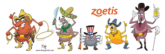 """Character creation """" Lone Star Tick """" for Zoetis"""