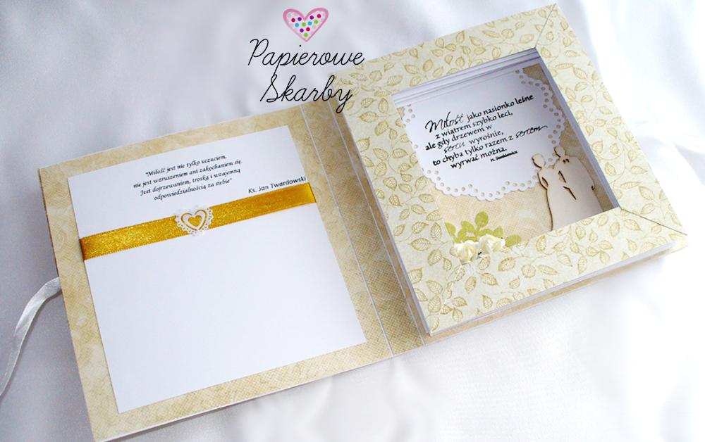 W Dniu ślubu Papierowe Skarby Scrapbooking Personalizowane Albumy
