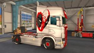 Deadpool Metalic skin for Scania RJL