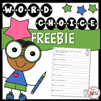 Free Word Choice Worksheet to replace overused words