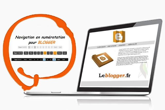 Comment ajouter la Navigation en numérotation à vos Pages pour Blogger