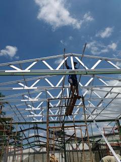 Jasa pasang rangka atap baja ringan dam revovasi di bogor jawa barat