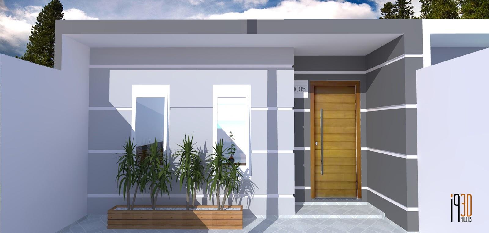 I9 Projetos 3d Projeto Casa Geminada 5m De Frente 5x25