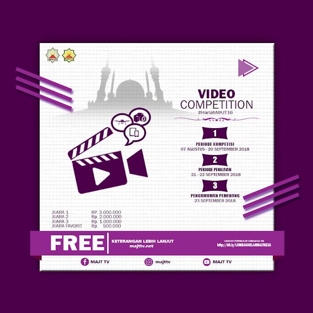 Daftarkan Dirimu dalam Lomba Video Competition Harlah MAJT Ke-16