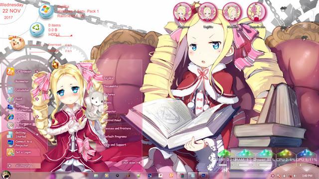 Re:Zero kara Hajimeru Isekai Seikatsu - Beatrice Theme Win 7 by Andrea_37