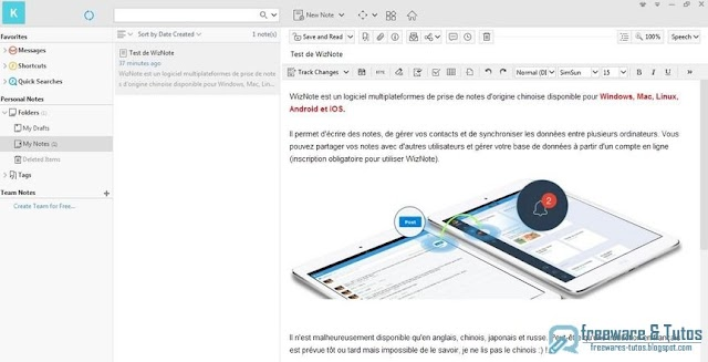 WizNote : une alternative à Evernote