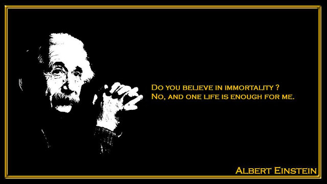 Do you believe in immortality Albert Einstein quotes