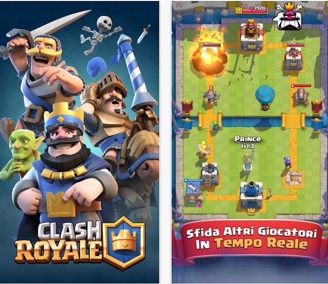 Clash Royale, visuale orizzontale, dono ultima carta, stagioni e trofei