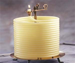 Light up your home with these coiled wax candles that will burn for 144 hours and will auto-extinguish themselves – making them safer than your traditional candle where you have to worry about blowing them out when you aren't at home.