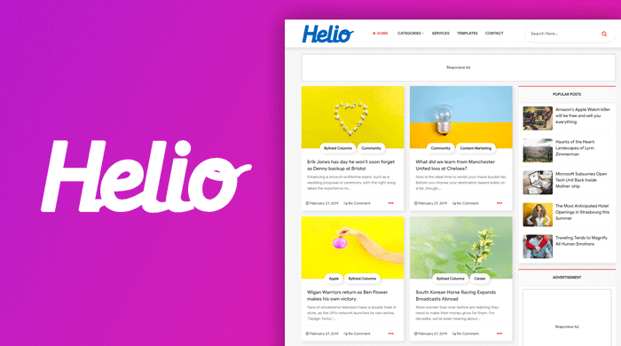 Helio Blogger Template
