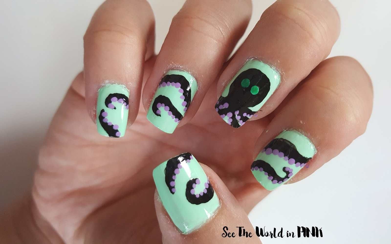 Manicure Monday - Octopus Nail Art