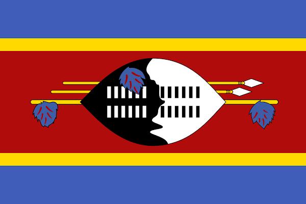 Logo Gambar Bendera Negara Eswatini PNG JPG ukuran 600 px