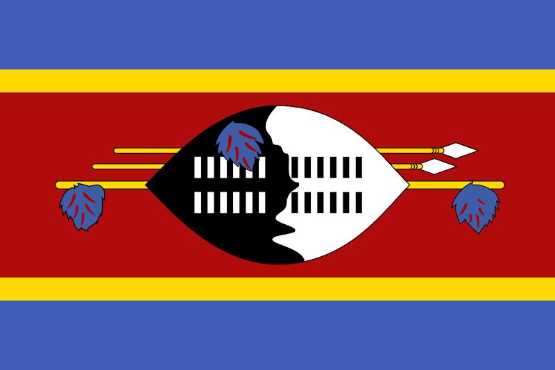 Logo Gambar Bendera Negara Eswatini PNG JPG ukuran 800 px