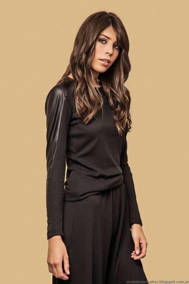 Moda invierno 2016 mujer. Basilotta colección otoño invierno 2016 ropa de mujer estilo casual urbano para el día y la noche.