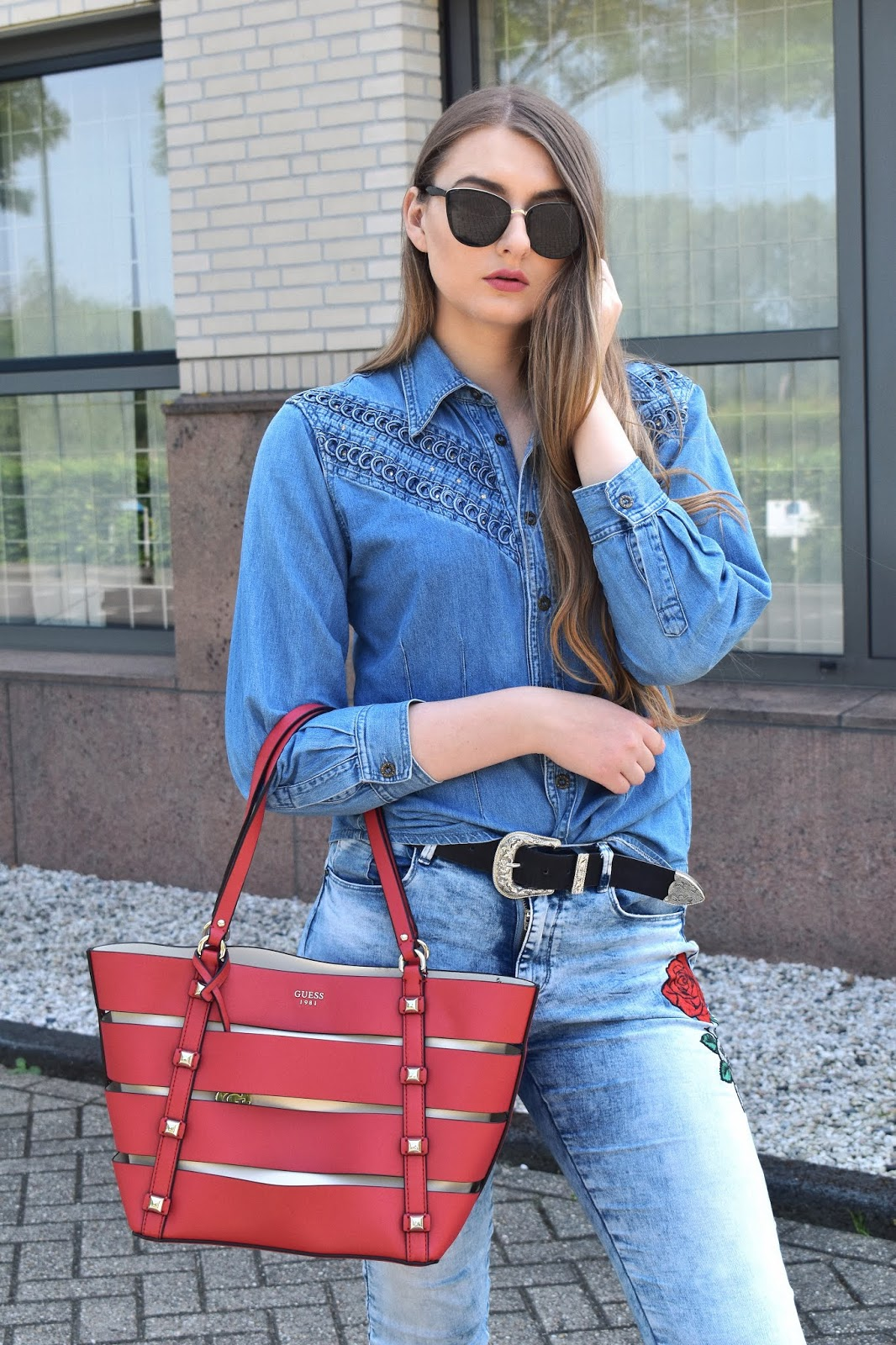 POWRÓT DO LAT 90 / TOTAL JEANS LOOK