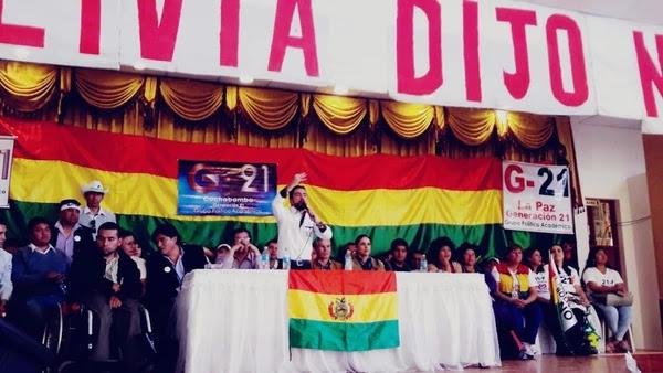 Las plataformas ciudadanas opositoras se reunieron el sábado en Cochabamba / RRSS