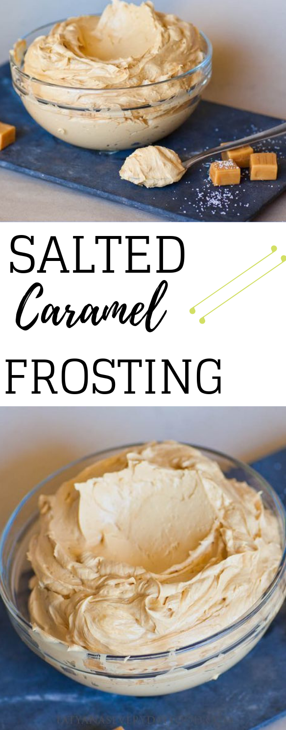 SALTED CARAMEL FROSTING #caramel #dessert