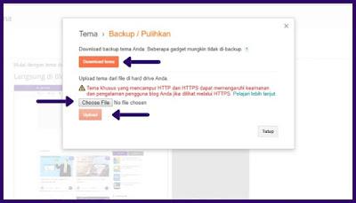 Tutorial cara mengganti template blog