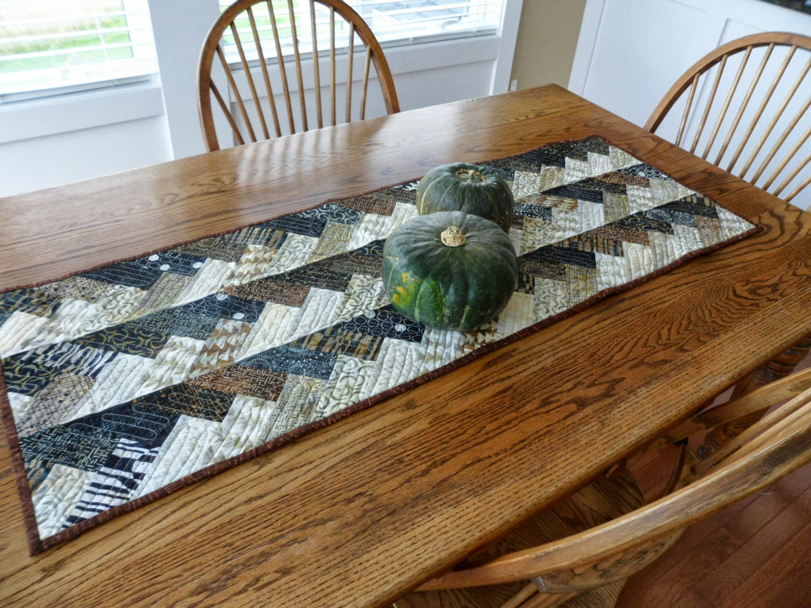 Northern Deb Quilts Fall Braid Table Runner using one of my