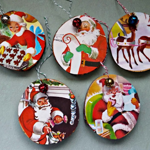 Recycled Little Golden Book Ornaments