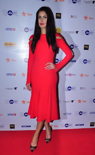 Katrina Kaif Jio New hot red dress photos