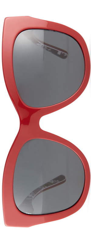 Dolce & Gabbana Square Acetate Sunglasses, Red