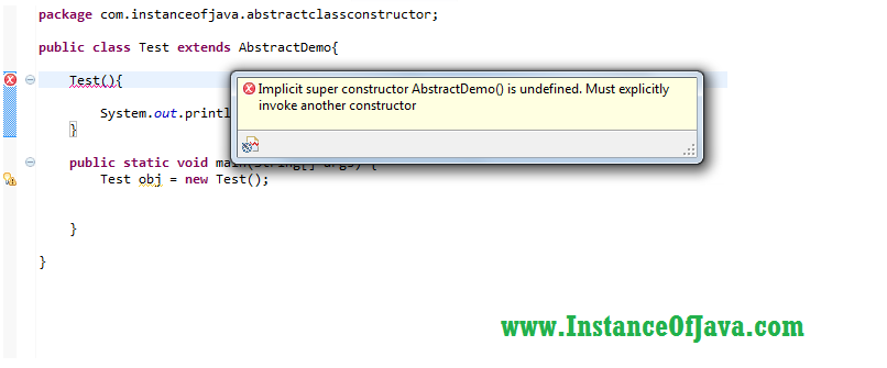 does abstract class have constructor in java