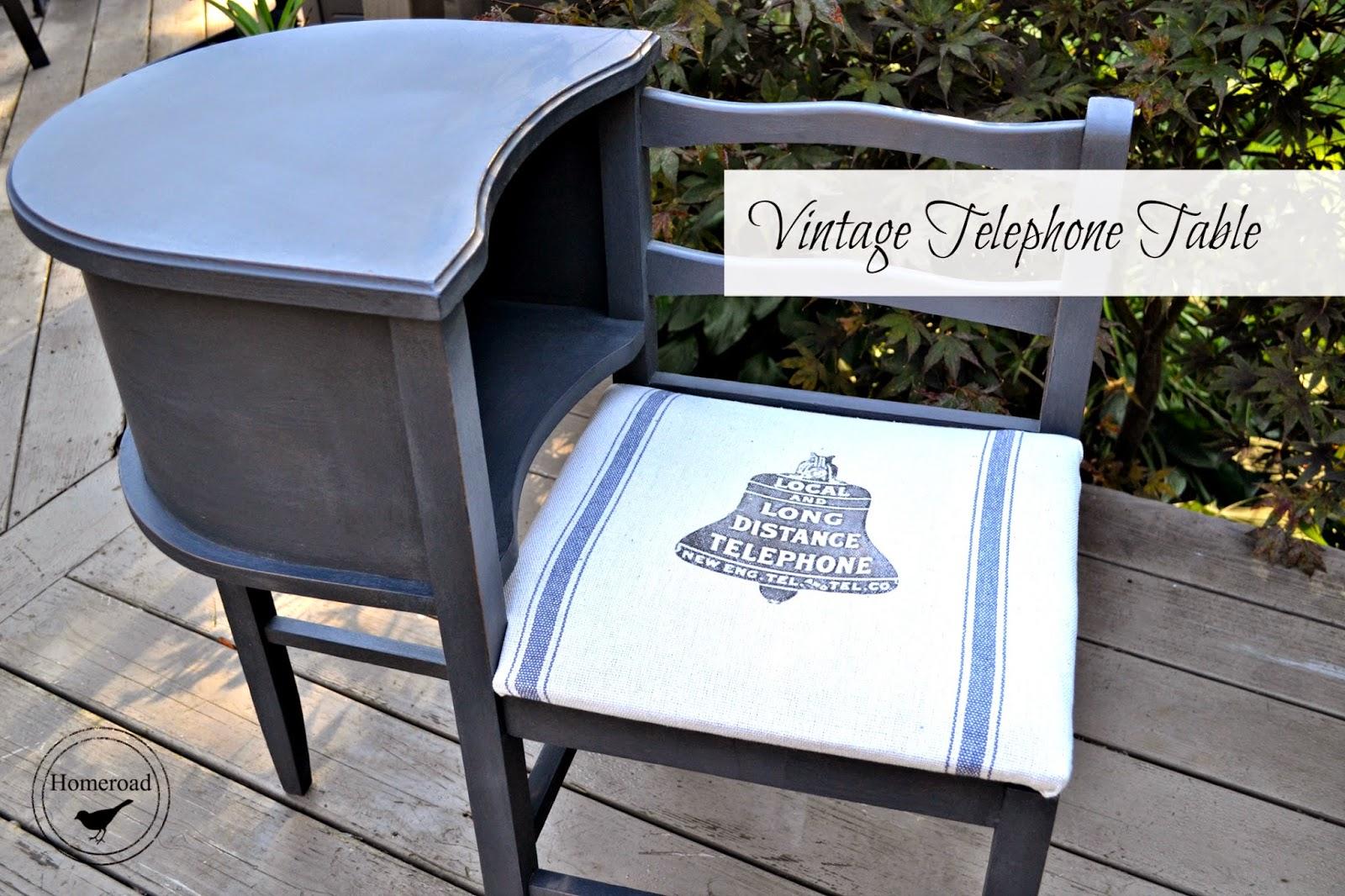 vintage telephone desk www.homeroad.net