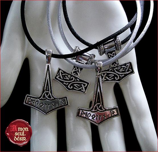 Collier marteau de Thor Mjollnir Bijouterie Viking Celtique Bijoux Nordique Celtes Odin Thor Hammer Necklace