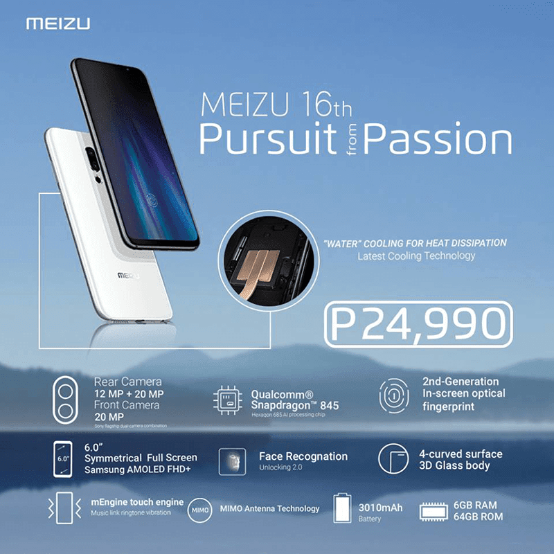 Breaking: Meizu 16th is coming to the Philippines, priced at just PHP 24,990!