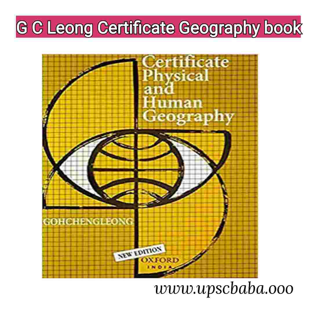 G C Leong Certificate Physical and Human Geography Book Pdf Download